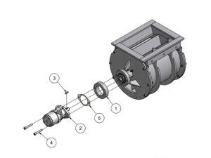 EBC - ER3G25 monteret med hydraulisk orbit motor